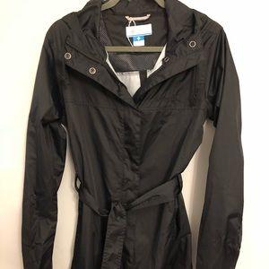Columbia women's pardon my trench rain jacket L